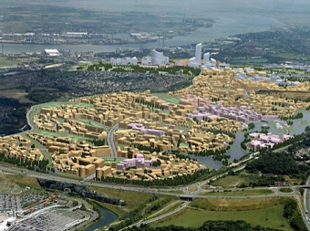A plan of the Ebbsfleet Garden City (UK)